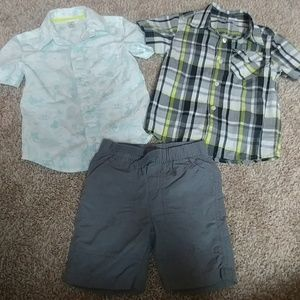 4T Button Front Shirts & Shorts